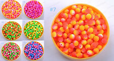 FREE SHIP Wholesale 40pcs 10mm Fluorescent Acrylic Round Charm Spacer Beads