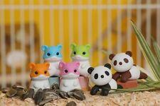 Iwako Japanese Eraser 6 pcs Hamster & Relax Panda Color May Vary (#38240)