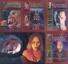 FANGORIA 1992 COMIC IMAGES CHROMIUM INSERT CARD SET 1C TO 6C FREDDIE KRUGER