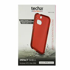 OEM Tech21 Impact Shell Case For HTC One M8 Protective Cover Tough Slim Red