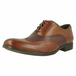 Mens Clarks Gilmore Wing Formal Leather Lace Up Shoes UK 9 1/2
