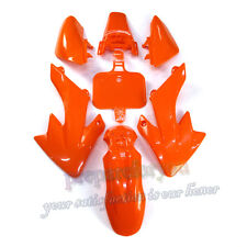 Carenatura ARANCIONE IN PLASTICA PARAFANGO KIT PER SDG SSR PIRANHA HONDA crf50 xr50 Pit Bike