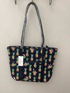 Vera Bradley Small Trimmed Vera Tote Bag Zip Top in Toucan Party - NWT MSRP $99
