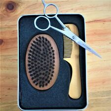 Beard Trimmer Scissors 6 inch Very Sharp with Beard Brush and Comb German Made