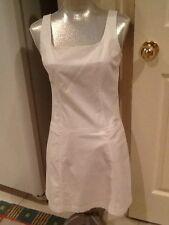 BCBG MAXAZRIA White Cotton Shift sleeveless Dress 6