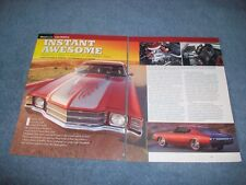 """1971 Chevelle Custom RestoMod Article """"Instant Awesome"""" Overhaulin' TV Build"""