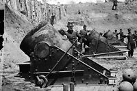 "New 5x7 Civil War Photo: 13"" Mortar Cannons, Battery at Yorktown Virginia - 1862"