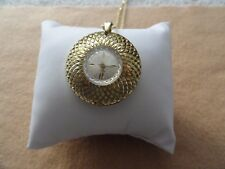 Swiss Made Capri by Mepa Vintage Wind Up Necklace Pendant Watch