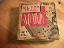 """Vintage puzzle game """"Dr. I.Q."""" Jump! test your IQ A family game W/instructions"""