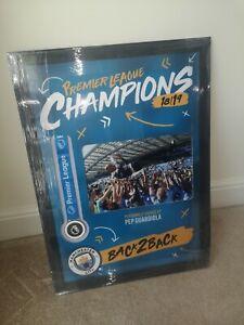 Pep Guardiola Manchester City Signed Premier League Champions Back 2 Back COA