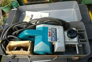 Power Planer WOLF 8657 same as Makita Model 1100 With Metal Case 240v 750w