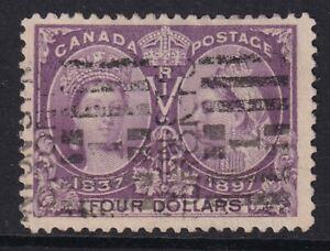 CANADA SG139 1897 JUBILEE $4 VIOLET - GOOD USED
