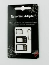 ADAPTATEURS CARTE SIM MICRO NANO EXTRACTEUR TELEPHONE IPHONE 4 5G 5S SAMSUNG HTC