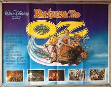 Cinema Poster: RETURN TO OZ 1985 (Quad) Fairuza Balk Jean Marsh Piper Laurie