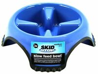 JW SLOW FEED Dog Food Bowl Non Skid Dish Break Fast Eating Habits Feeder