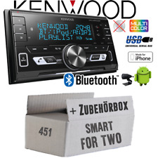 Kenwood Autoradio für Smart ForTwo 451 2007-2010 Bluetooth/USB/VarioColor Set