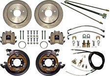 "CURRIE DISC BRAKE KIT,LINES & CABLE,REAR PARKING,BIG FORD NEW,11"" ROTORS,5x5.5"""