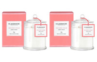 Glasshouse RENDEZ-VOUS Amber & Orchid Triple Scented Candle 350gx2 Free Post