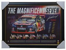 Jamie Whincup Signed The Magnificent Seven V8 Supercars Champion Print Framed