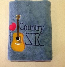 I Love Country Music....Towel Embroidered, ....