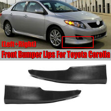For 09-10 Toyota Corolla S Factory Style Body Kit Front Bumper Lips L-R 2pcs