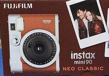Fujifilm Instax Mini 90 Neo Classic Camera Brown Inclusive 1 Film!