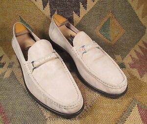 Calvin Klein QUESTII  Sand Beige Suede Leather Loafers size 13 M