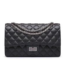 Korea Lambskin Handbag Genuine Sheepskin Leather Women Quilted Purse Bag bid