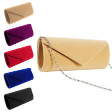 e5d43bf11e Womens Faux Suede Ladies Clutch Bag Envelope Wedding Prom Party Evening