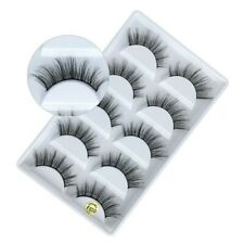NEW 5Pair 3D Mink False Eyelashes Wispy Cross Long Thick Soft Fake Eye Lashes850