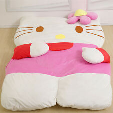 Cartoon Hello Kitty Tatami Sofa Filled Bed Sleeping bag Twin Mattress Xmas Gift