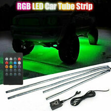 4X Under Car Tube Neon Strip Light Kit 60/90cm LED Underglow Underbody 12V UK