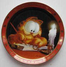 "Danbury 1990 Garfield Dear Diary ""The Charming Cat"" Ltd Ed 23kt Gold Trim Plate"