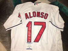 1b9535acc Yonder Alonso Signed Cleveland Indians Jersey All Star Superstar Beckett