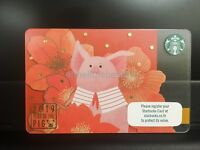 Starbucks Card 2019 Pig Chinese New Year Gift Card Thailand with envelope/sleeve