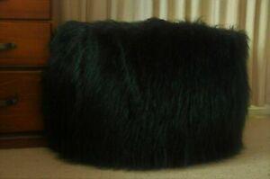 New Shaggy Bean Bag Cover Large Soft Black Beanbag Fur Soft gift present