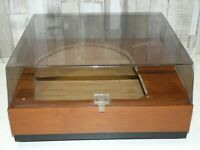 WOODEN PLINTH & PERSPEX LID FOR A GARRARD 401 RECORD VINYL PLAYER DECK TURNTABLE