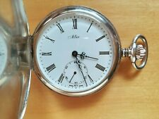 9A406 Nilax Swiss made full hunter,silver pocket watch