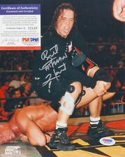Bret Hitman Hart WWE WWF Signed AUTOGRAPH 8 x 10 Photo PSA DNA