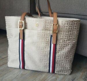 Tommy Hilfiger Women's Designer Beige Tote Bag New