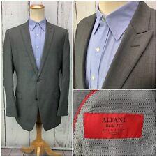 ALFANI Slim Fit Men's Sport Coat Blazer Gray 2 Button Wool 44L Jacket
