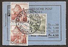 s629) Suiza Folleto de sello 1948 MH 0-35c sellado todos H-hojas completamente