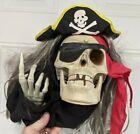 Vintage Halloween  Animated Pirate Plaque & Original Box Tested Horror Decor