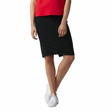 adidas Originals Women's Black Retro Vintage Stretch Cotton Midi Pencil Skirt
