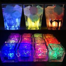 New Listing4-20Pcs Party Decorative Led Ice Cubes Light Multi-Color Liquid Sensor Ice Decor