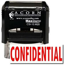 MaxStamp - Self-Inking Confidential Stamp (Red Ink)