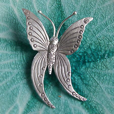 Silver Hill tribe Thai Butterfly Pendant Pure