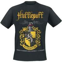 Official Licensed Harry Potter Hufflepuff Team Quidditch Black T-Shirt