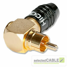 HICON RCA Cinch Stecker 90° gewinkelt 7,0mm HighEnd verschraubbar | HI-CMA02-NTL