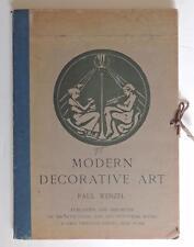 1912 Photolithographs ART NOUVEAU 57 Plates Duilio Cambellotti Fritz Erler Color